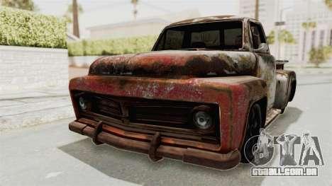 GTA 5 Slamvan Stock PJ2 para GTA San Andreas vista traseira