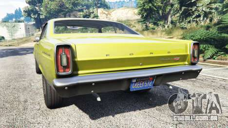 GTA 5 Ford Fairlane 500 1966 v1.1 traseira vista lateral esquerda