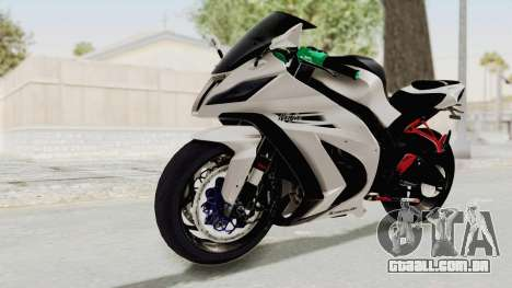Kawasaki Ninja ZX-10R Modification para GTA San Andreas vista direita