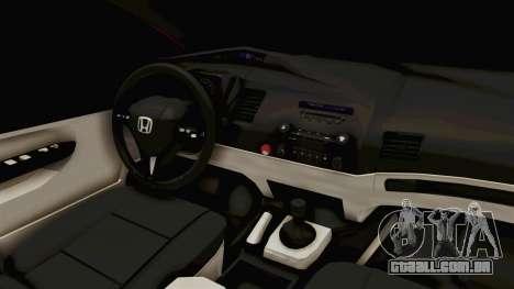 Honda Civic FD6 para GTA San Andreas vista interior