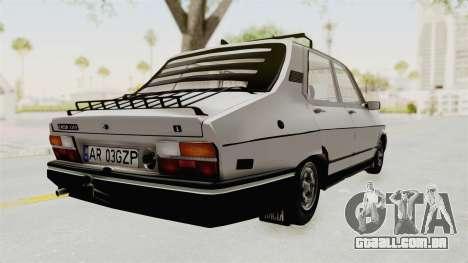 Dacia 1310 TX 1986 para GTA San Andreas traseira esquerda vista