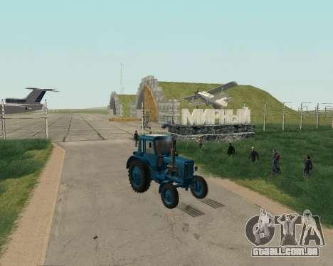 MTZ 80 Bielorrússia para GTA San Andreas vista direita
