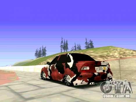 Lada Priora Camouflage para GTA San Andreas esquerda vista