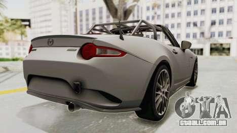 Mazda MX-5 Cup 2015 v2.0 para GTA San Andreas traseira esquerda vista