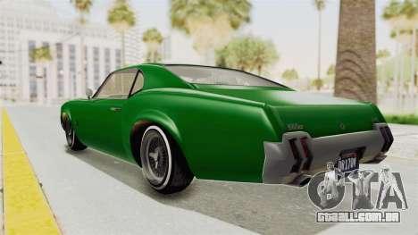 GTA 5 Declasse Sabre GT2 para GTA San Andreas esquerda vista