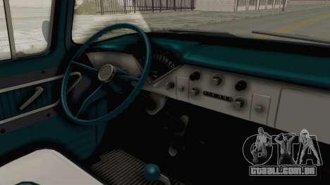 Chevrolet Apache 1958 para GTA San Andreas vista interior