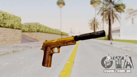 Silenced M1911 Gold para GTA San Andreas segunda tela