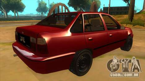Daewoo Racer GTI para GTA San Andreas vista direita