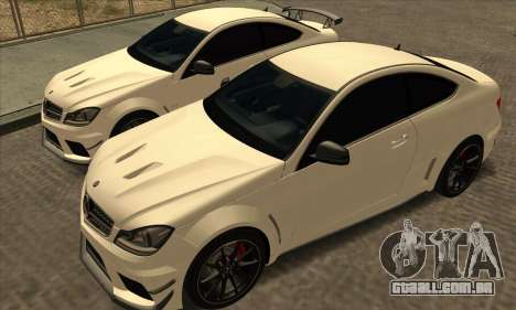 Mercedes-Benz C63 AMG Black-series para GTA San Andreas vista interior
