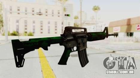 HD M4 v4 para GTA San Andreas terceira tela