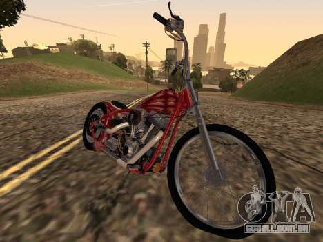 Chopper Old School para GTA San Andreas traseira esquerda vista