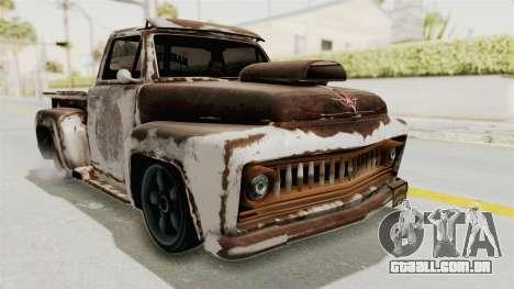 GTA 5 Slamvan Lowrider PJ2 para vista lateral GTA San Andreas