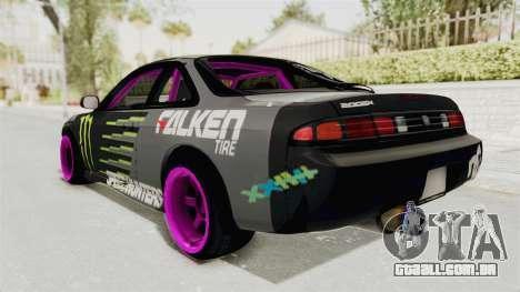 Nissan Silvia S14 Drift Monster Energy Falken para GTA San Andreas esquerda vista