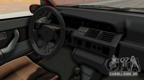 Renault Clio Williams para GTA San Andreas vista interior