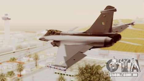 Dassault Rafale Indian Air Force para GTA San Andreas esquerda vista