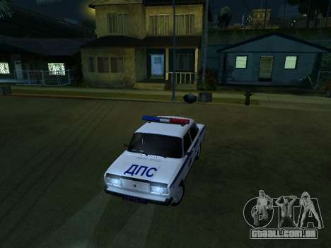 VAZ 2107 DPS para GTA San Andreas vista traseira