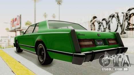 GTA 5 Dundreary Virgo Classic Custom v1 para GTA San Andreas traseira esquerda vista
