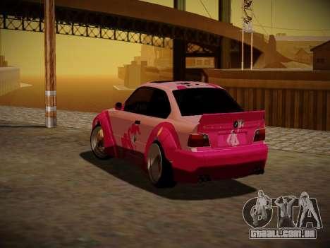 BMW M3 E36 Pinkie Pie para GTA San Andreas vista superior