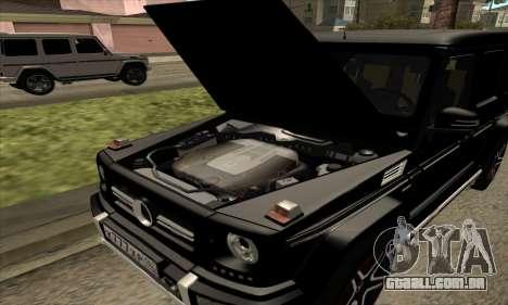 Mercedes G63 Biturbo para GTA San Andreas vista superior