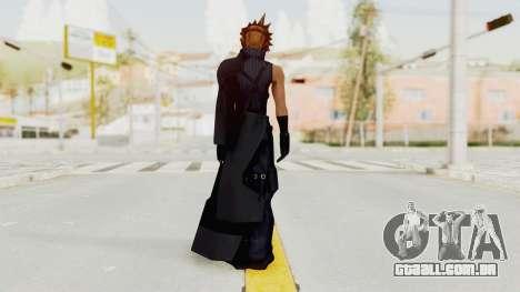Kingdom Hearts 2 - Cloud Strife para GTA San Andreas terceira tela