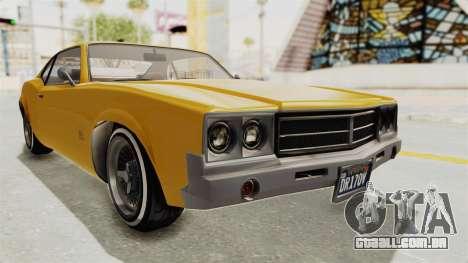 GTA 5 Declasse Sabre GT2 A IVF para GTA San Andreas vista direita