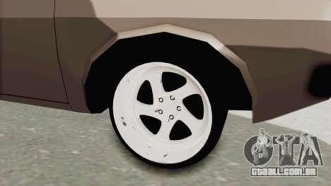 Renault 12 para GTA San Andreas vista traseira
