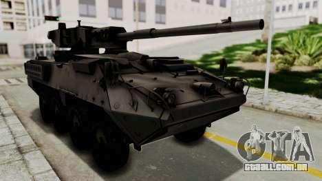 M1128 Mobile Gun System para GTA San Andreas traseira esquerda vista