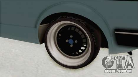 Volkswagen Golf 1 Cabrio VR6 para GTA San Andreas vista traseira