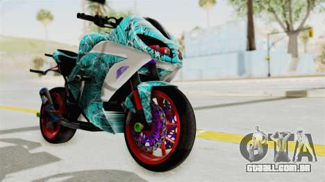 Kawasaki Ninja 250FI Stunter para GTA San Andreas vista direita