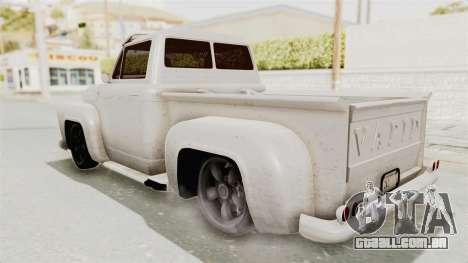 GTA 5 Slamvan Lowrider para GTA San Andreas esquerda vista