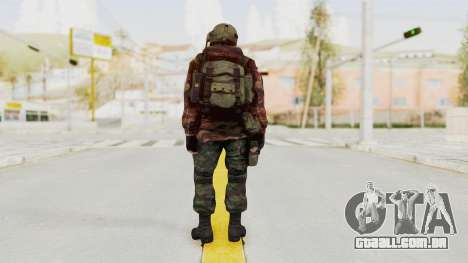Battery Online Russian Soldier 9 v1 para GTA San Andreas terceira tela