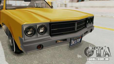 GTA 5 Declasse Sabre GT2 A IVF para vista lateral GTA San Andreas