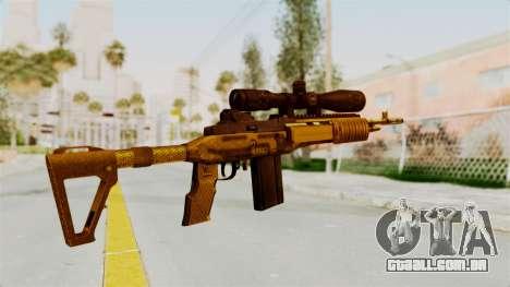 M14EBR Gold para GTA San Andreas segunda tela