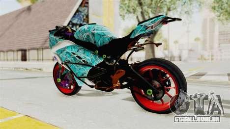 Kawasaki Ninja 250FI Stunter para GTA San Andreas esquerda vista