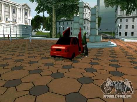 Lada Priora Lambo para GTA San Andreas traseira esquerda vista