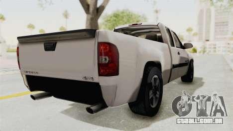 GMC Sierra 2010 para GTA San Andreas traseira esquerda vista
