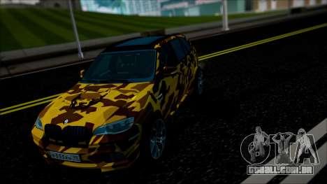 BMW X5M ( Davidich ) para GTA San Andreas vista interior