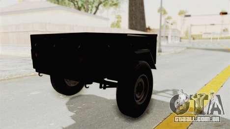 GAZ-704 Trailer para GTA San Andreas esquerda vista
