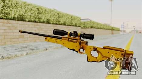 L96A1 Gold para GTA San Andreas segunda tela