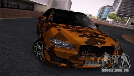 BMW X5M ( Davidich ) para GTA San Andreas esquerda vista