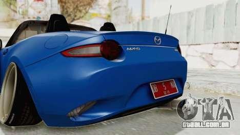 Mazda MX-5 Slammed para GTA San Andreas vista inferior
