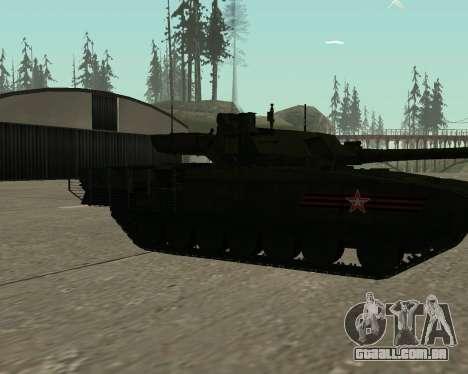 T-14 Armata para as rodas de GTA San Andreas