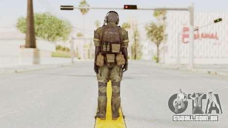 MGSV Phantom Pain Wandering MSF Mosquite para GTA San Andreas terceira tela