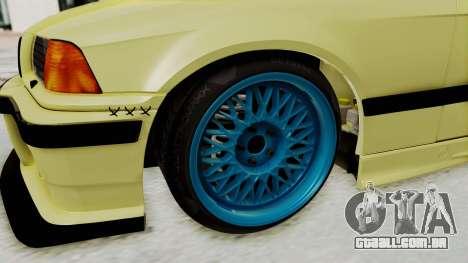 BMW M3 E36 Drift para GTA San Andreas vista traseira