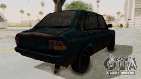 Zastava 1100 Rusty para GTA San Andreas traseira esquerda vista