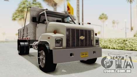 Chevrolet Kodiak Dumper Truck para GTA San Andreas vista direita