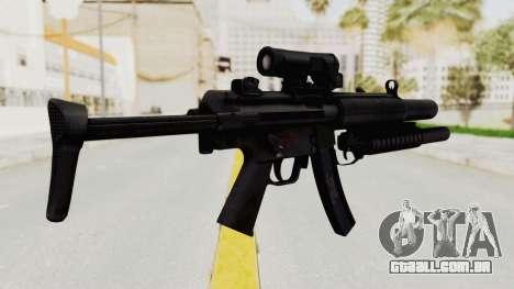 MP5SD with Grenade Launcher para GTA San Andreas segunda tela