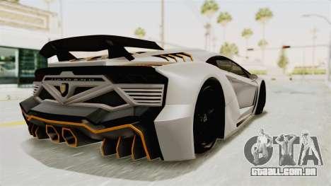 GTA 5 Pegassi Zentorno PJ para GTA San Andreas esquerda vista
