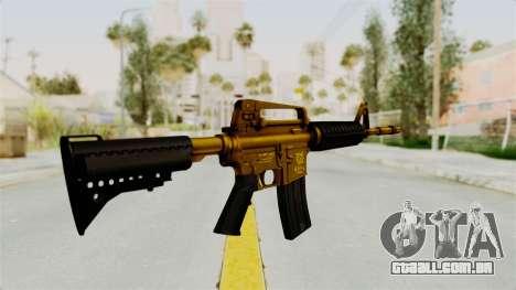 M4A1 Gold para GTA San Andreas segunda tela