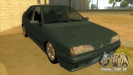 Renault 19 Coupe para GTA San Andreas vista traseira